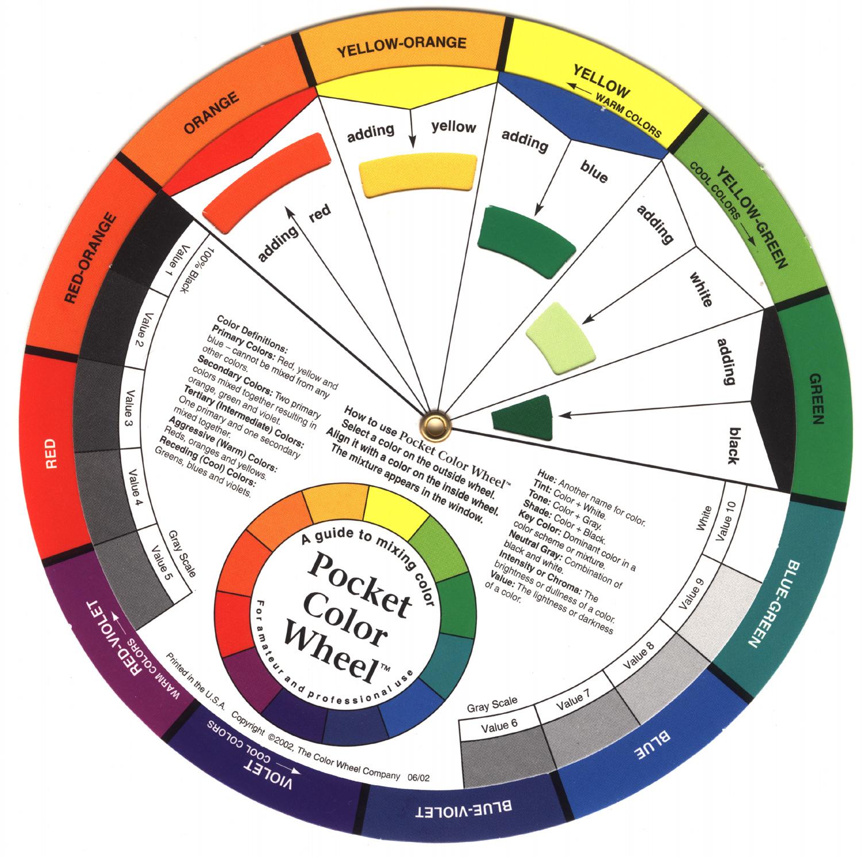 Шаблон цветового круга скачать бесплатно