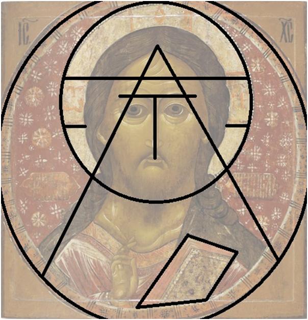 Абстрактная схема иконы Спас