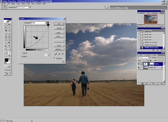 Как сделать ярче небо в фотошопе